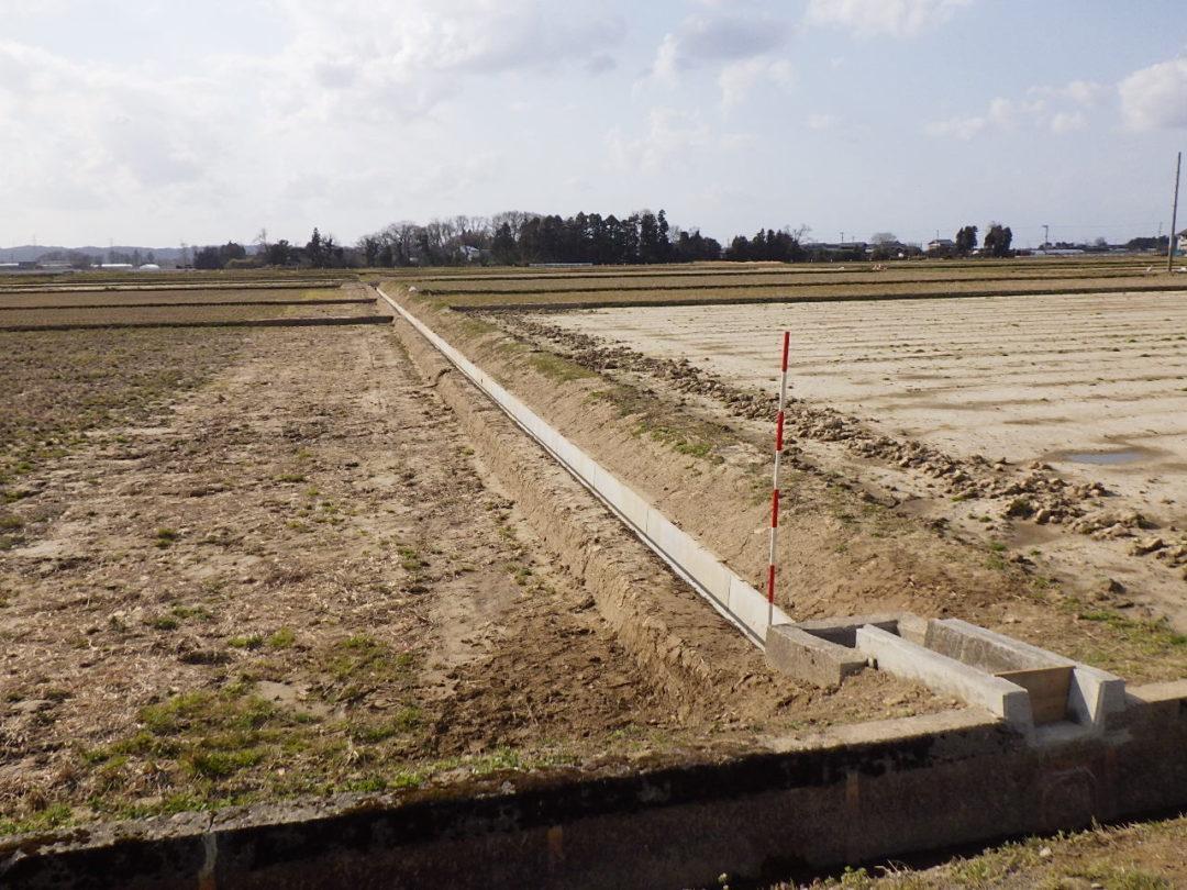 新田地区(新田ひまわりの会)用排水路布替工事
