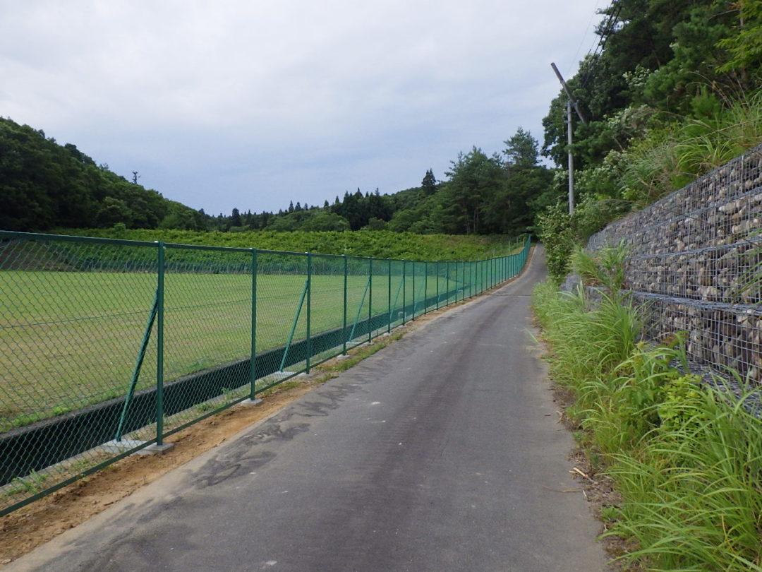 埋立地フェンス取替工事